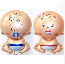 2 Pieces/ set Children Angel Baby Aluminum Inflatable Foil Balloons Helium Balloon Birthday Party Decoration Ball Classic Toys