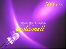 500pcs 5mm Ultra Bright Pink LED pink lamp 5mm light-emitting diode 5mm water clear round pink led light(China)