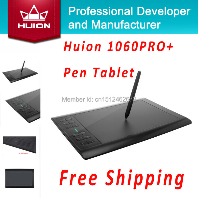 Huion 1060 PRO+ Digital Tablets Signature Tablets Animation Drawing Tablet Boards Graphic Drawing Tablets With 4G SD Card Black<br><br>Aliexpress