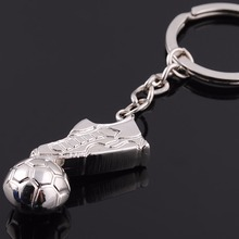 2015 Hot Creative Unique Metal Football Shoe  Pendant Key chain Key rings Gift Zinc alloy Sport Promotional Gift