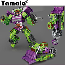 [Yamala] Transformation ko Version Kids Classic Robot Cars Devastator Right Thigh Action Figure Toys For Children Model Toy(China)