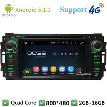 QuadCore Android 5.1.1 Car DVD Player Radio DAB+ 4G WIFI GPS Map For Jeep Compass Cherokee Wrangler Chrysler Sebring Dodge RAM