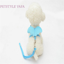 dog collar lovely Pet Blue  Cute Angel Pet Dog Leads and Collars Set Puppy Leads 0510