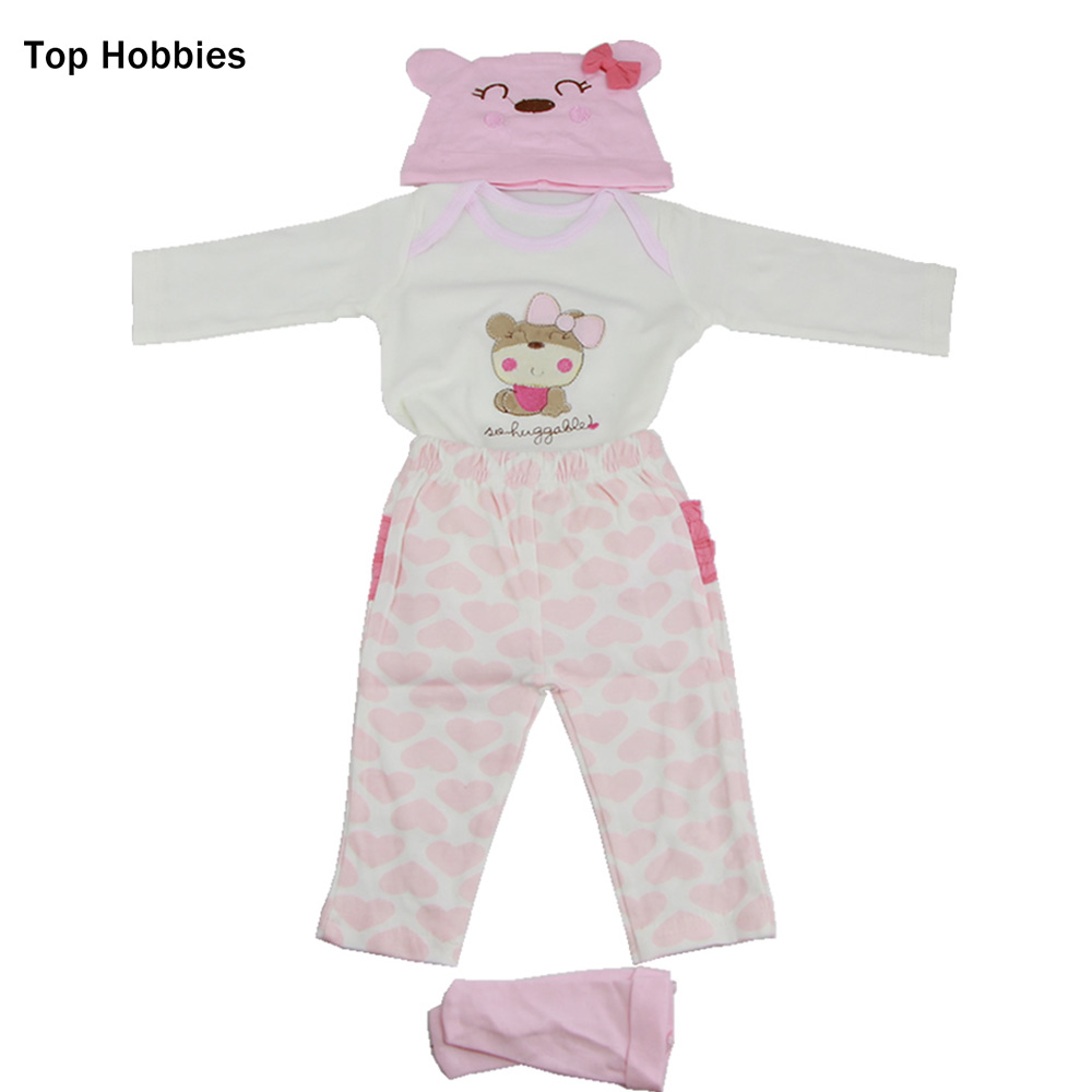 HT06 Pink heart dressed five piece suit fit for 22-23 inch reborn baby doll exquisite birthday baby girls birthday gift Clothes<br>