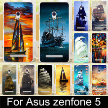 1Pcs Smooth sailing Ship Sightseeing Pirate Ship PC Phone Cases Covers Hood For ASUS ZenFone 5 Zenfone5 Phone Case Cover Shell
