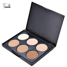 GUSATLA Beauty Essentials 6 Color Multiple Vibrant Concealer Palette Waterproof Makeup Powder Black Eye Concealer for Women