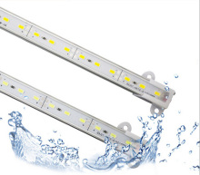 10PCS Glue Epoxy waterproof led bar lights 100cm 16w 1M IP68 led rigid bar strip DC12V 72 SMD5730 5630 LED Hard Strip Bar