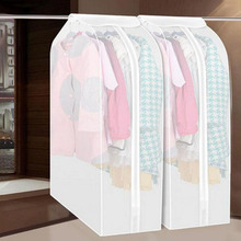 Clothes Storage Bag Case Vacuum Garment Suit Coat Hanging Organizer Dust Cover Protector Household Wardrobe Storage Bag(China)