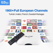 HDMI Android Smart TV Box with 1Year Free IUDTV Canal IPTV 1700 Channels Europe French Italy Germany UK Arabic Set Top Box