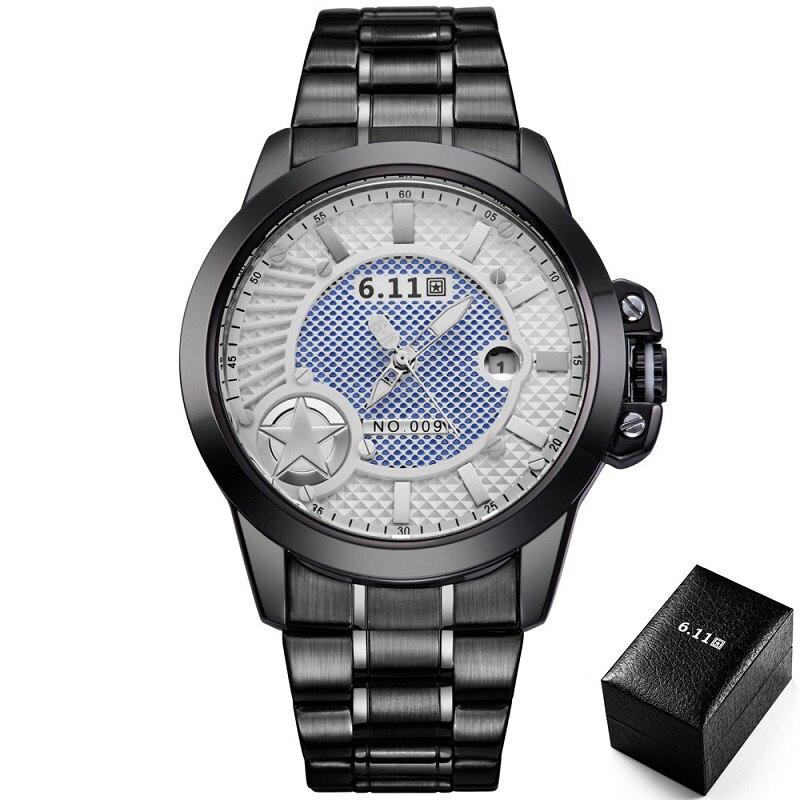 TIMI 2018 Men Fashion Solar-powered watch Full Steel Clock Army Military Outdoor Quartz Wrist Watch Casual Sports watches NO.009<br>
