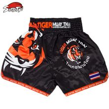 SUOTF MMA Tiger Muay Thai boxing boxing match Sanda training breathable shorts muay thai clothing boxing shorts thai boxing mma