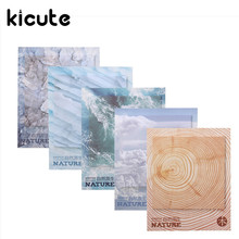 Kicute Romantic Nature Scenry Decor Label Diary Stickers DIY Scrapbooking Stickers Memo Pad Sticky Notes School Office Supply