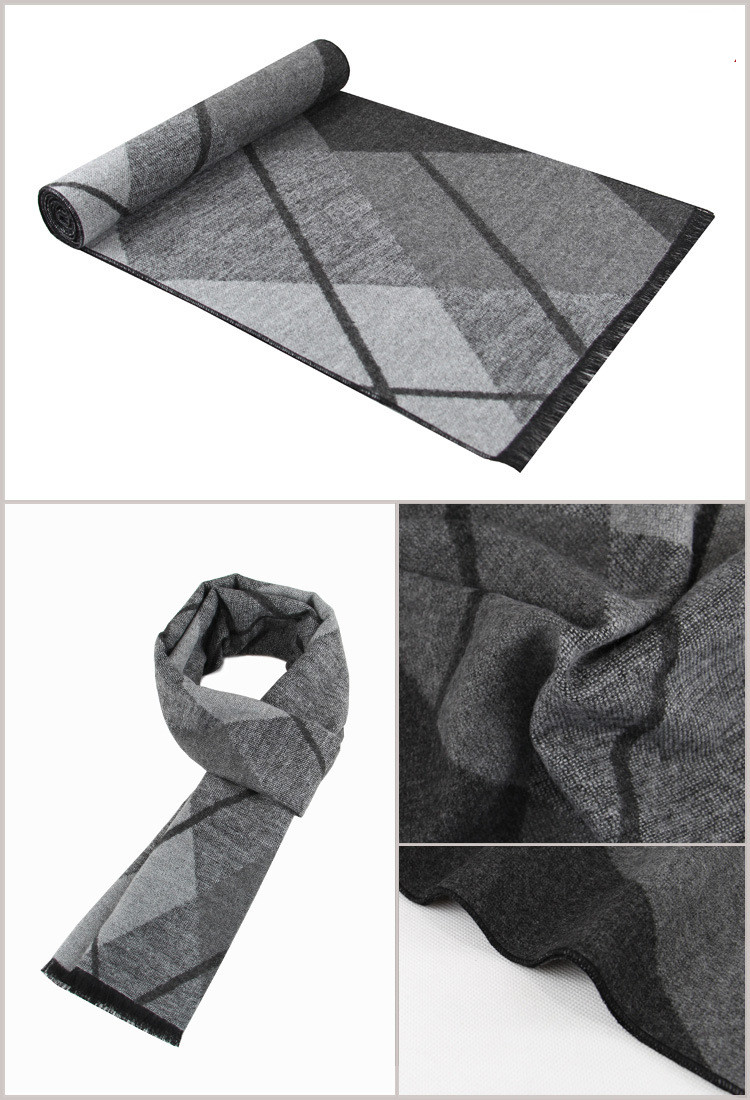 Newest fashion design casual scarves winter Men's cashmere Scarf luxury Brand High Quality Warm Neckercheif Modal Scarves men 2