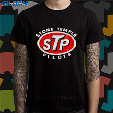 Wholesale Price Offensive T Shirts Short Sleeve Top Crew Neck Mens Awesome Stone Temple Pilots Band Stp Logo T Shirt(China)
