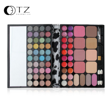 Brand TZ 72 color Master Make up Makeup Eyeshadow Face blush Palette Cosmetics Blush with Eye shadow Brushes Maquiagem(China)