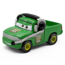 Cartoon Movie Pixar Cars NO.86 Chick Hicks Crew Chief Green pickup truck Diecast Metal Toy Car 1:55 Alloy Model Toy(China)