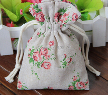 Natural Cotton Linen Wedding Gift Package 10*15cm Favor Holder Chocolate Candy Packages 50pcs/lot Free Shipping
