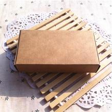 Alice, 500pcs/lot Brown Kraft box for packaging ,paper boxes for candy, Birthday/Christmas party gift box ideas