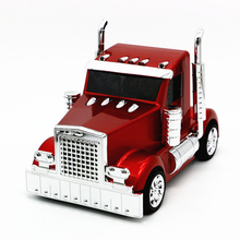 Cartoon Tractor Shape TF card bass Speaker USB AUX Stereo FM Radio Car Model Speakers MP3 Music Player for computer mobilephone
