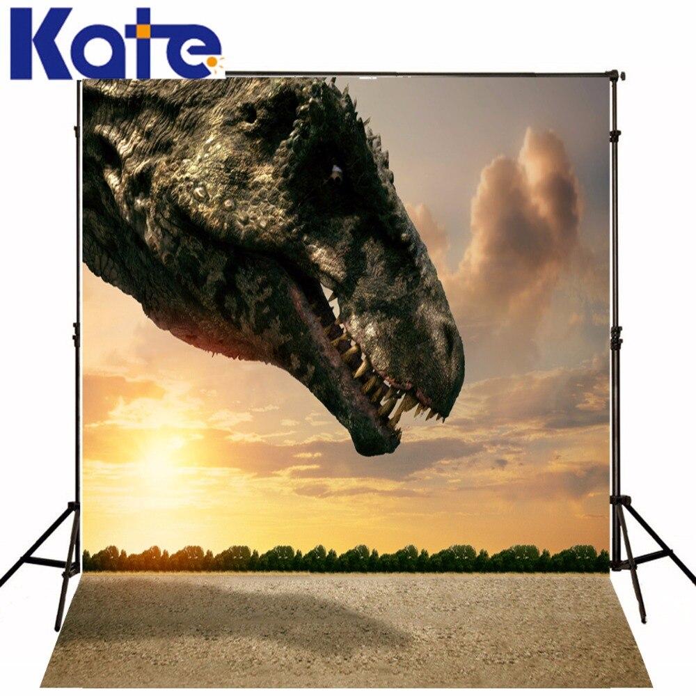 Kate Photography Backdrops Vintage Jurassic World For Children White Cloud Studio Backdrop Dinosaur<br>