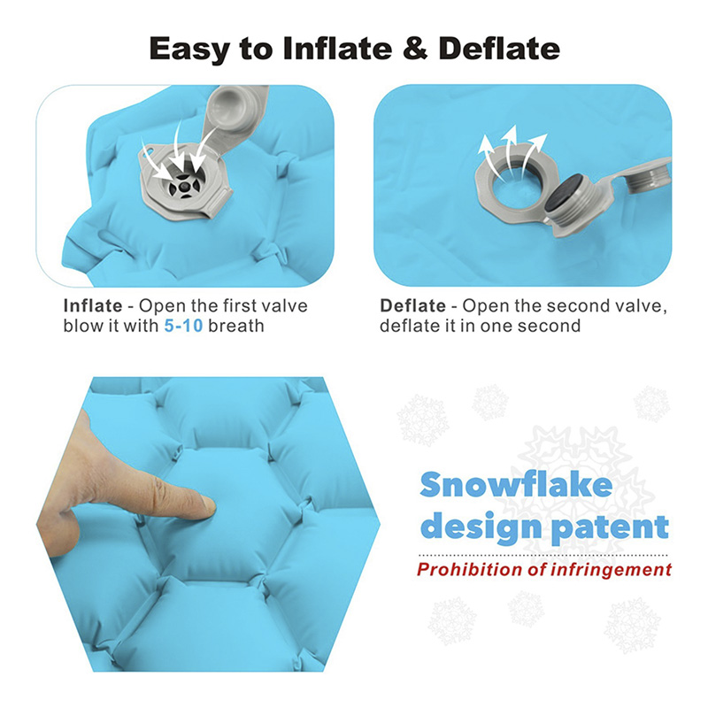 Fast Filling Inflatable Sleeping Pad