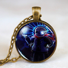 Undertale Game fans bad time Fashion Trendy Necklace brass silver Pendant steampunk Jewelry for Gift women chain toy men cosplay