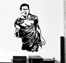 Messi Barcelona  Football Player Wall Decal For Kids Room Nursery Wall Stickers Vinyl Removable Home Interior Drop  Decor SYY437