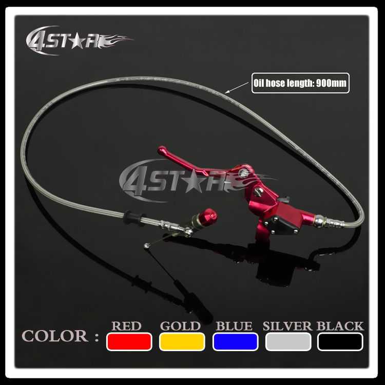 Red 900MM Hydraulic Foldable Clutch Levers Master Slave Cylinder Fit ATV Motorcycle Dirt Pit Bike 50cc-125cc Horizontal Engine<br>