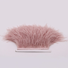 Beautiful pink  Ostrich Feathers Fringe Trim Millinery Supplies Christmas Holiday Jewelry Decoration Ribbons