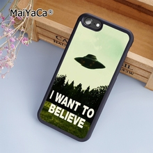 MaiYaCa hot I want to believe UFO Alien fashion soft mobile cell Phone Case Cover For iPhone 6 6S Custom DIY cases luxury shell(China)