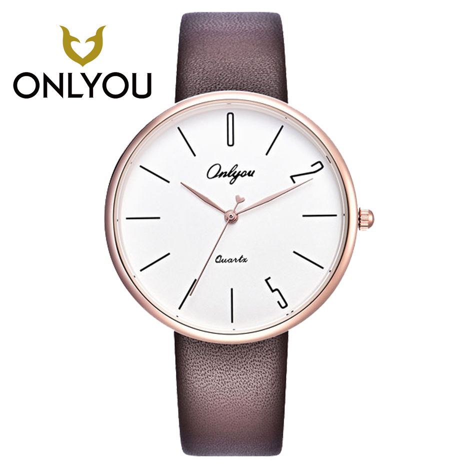 ONLYOU Women Watches Simple New Style Lover Watch male Watches Fashion Leisure Quartz-Watch Ultra-thin simulation man style <br>