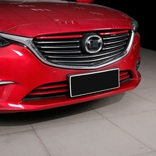 car accessories chromium 2017 modified exterior decorative plating front grille trim strip bright FOR Mazda Atenza(China)