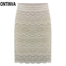 High Waist Bodycon Skirt 2017 Lace Womens Skirts Female Black Saia Curta Feminino Vintage Formal Ladies pencil skirt in wedding(China)