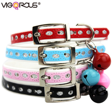 Cats and Dog Collar for Small Dogs and Cats Pets Products in Collars and Leads Pets Accessories for Puppies with Bells JW0008(China)