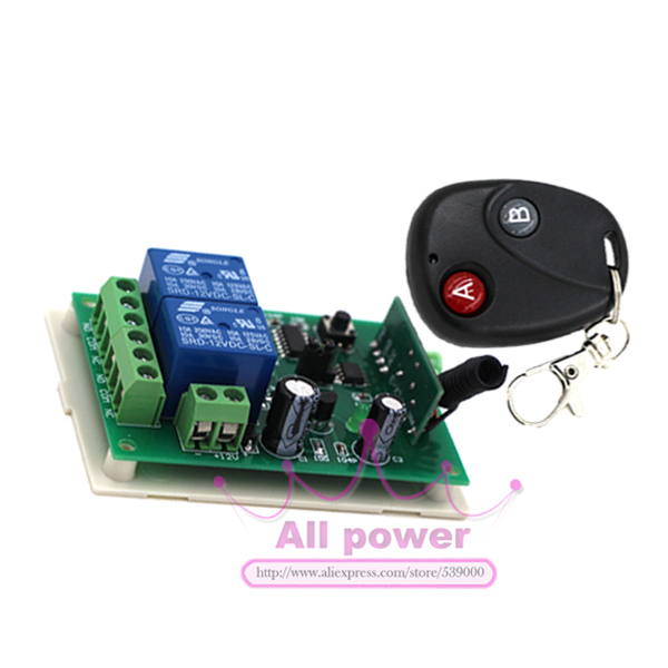 DC 12v 10A relay 2CH wireless RF Remote Control Switch Transmitter+ Receiver + case For LED LIGHT lamp<br><br>Aliexpress