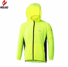 ARSUXEO Men Sports Jacket Windproof Waterproof Bike Clothing Rainproof Jersey Breathable Running Cycling Rain Jacket(China)