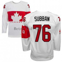 Embroidery stitching retro throwback PK SUBBAN #76 Team Canada Hockey jersey Customize any size player name number(China)