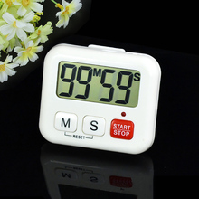 Buy 1 Pcs White Kitchen Clock Digital LCD Cooking Timer Sport 99 Minute Count-Down Clock Alarm Reminder Table Clock Temporizador for $2.62 in AliExpress store