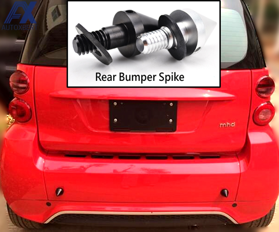 blue Front or Rear Bumper Protector Spikes Guards For Mercedze Benz Smart Fortwo 2008-2014