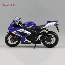 1:12 Motorcycle White Blue Suzuki GSX R750 Racing Moto Diecast Alloy Vehicles Toys Brinquedos Kids Gifts Models Collection