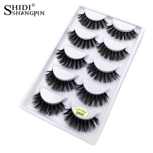 New 5 Pairs Natural false eyelashes thick 3d mink lashes long black soft mink eyelashes makeup eyelash extension faux lashes(China)