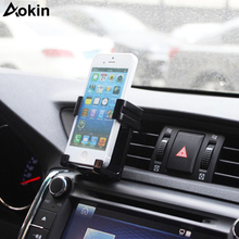 Aokin Air Vent Mount Mobile Phone Holder Stand 4-6 Inch Universal Car Phone Holder For iPhone 7 6 6Plus 5s Xiaomi Redmi 4x(China)