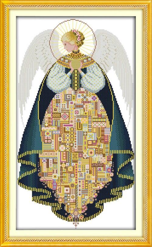 Ангел фея (3) Подсчета или Штамп Вышивки Крестом 11CT 14CT DMC Вышивки Крестом Комплект для Вышивания Домашнего Декора Рукоделие(China)