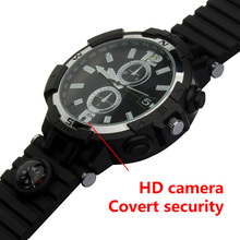 New product manual wireless WiFi smart camera watch with motion detection alarm round screen remote monitoring wifi camera(China)