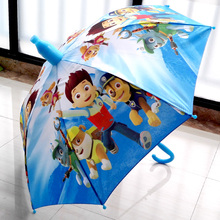 Summer new Children umbrella cartoon girls and boys long handle sunny and rainy umbrella(China)