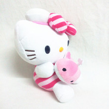 new 25 cm the height of the Hello Kitty teddy doll sitting on birthday gifts for the children KT cat valentine's day
