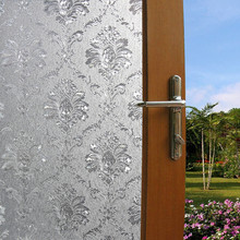 45*100 cm printing Flower pattern Opaque Frosted Window Films Vinyl Static Cling Self adhesive Privacy Glass Stickers(China)