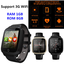 2017 Best Smart watch Android 5.1 MTK6580 Quad Core 1G RAM 8GB ROM Smartwatch support 2G 3G GPS WiFi Heart Rate Monitor pk LEM5(China)