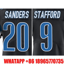 Men's #9 Matthew Stafford #20 Barry Sanders  Black Color Rush Limited Free Shipping