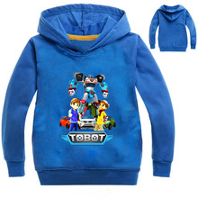 Z&Y 3-16Years Spring Autumn Baby Boy Jacket Coat Robot Tobot Clothes Boys Hoodies and Sweatshirt Casaco Menino Inverno N7668(China)